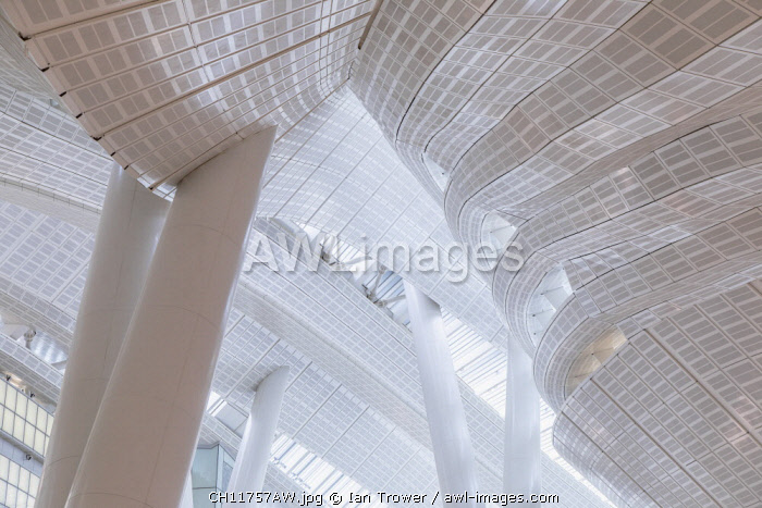 Interior of High Speed Rail Station, West Kowloon, Kowloon, Hong Kong