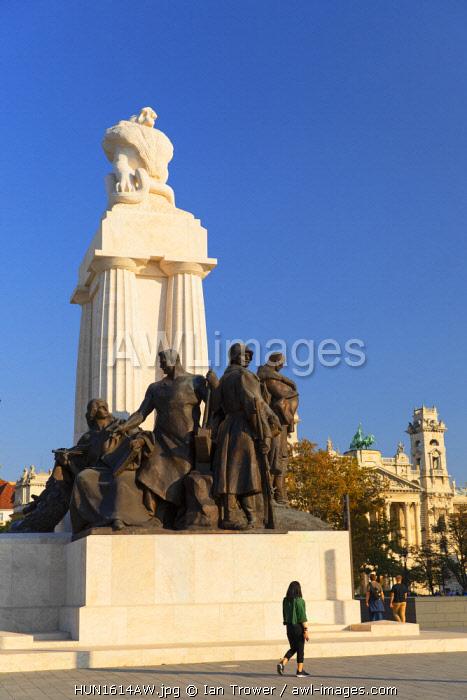 Statue in Kossuth Lajos Square, Budapest, Hungary