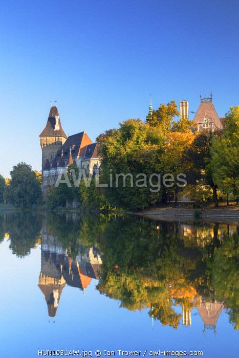 Vajdahunyad Castle in City Park, Budapest, Hungary