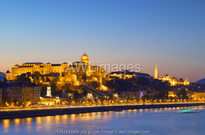 awl-images.com - Hungary / Buda Castle, Fisherman's Bastion and River Danube at sunset, Budapest, Hungary