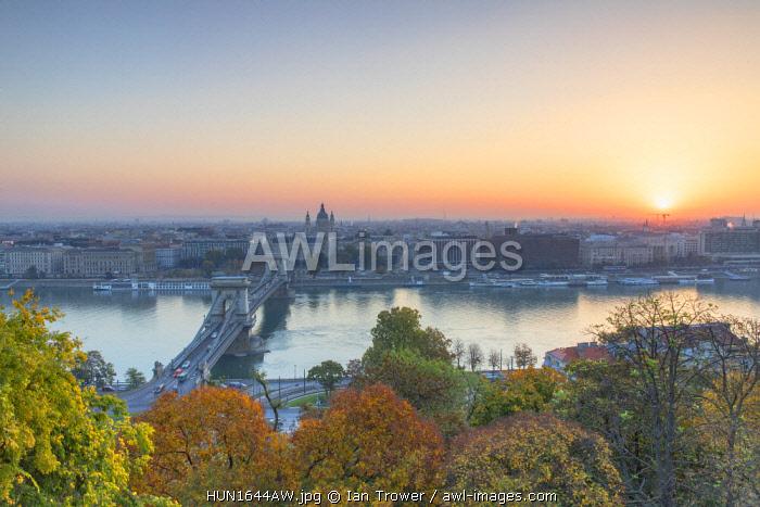 View of Budapest at sunrise, Budapest, Hungary