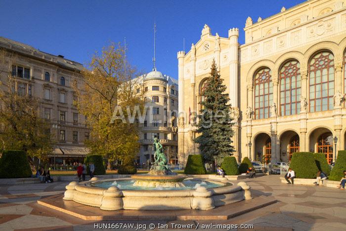 Vigado Concert Hall and Vigado Square, Budapest, Hungary