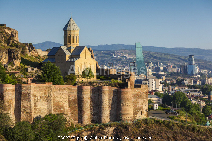 Georgia, Tbilisi, Old Town, Narikala Fortress, Church of St. Nicholas