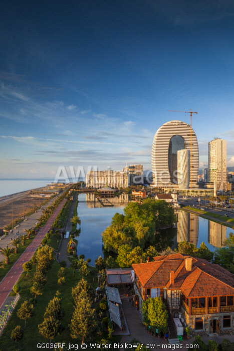 Georgia, Batumi, Batumi Boulevard, seaside promenade, architecture