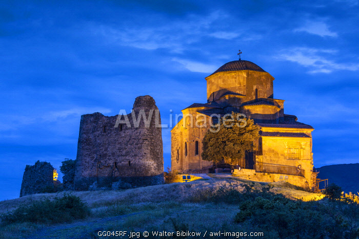 Georgia, Mtskheta, spiritual town where Christianity was established in 327AD, Jvari Church