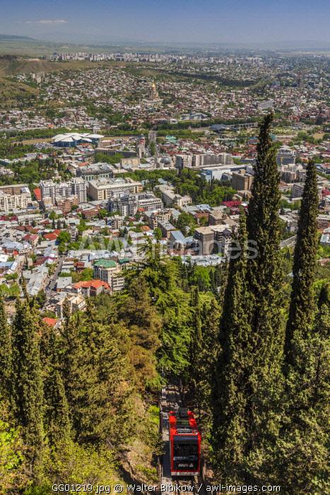 Georgia, Tbilisi, Mtatsminda Park, Funicular