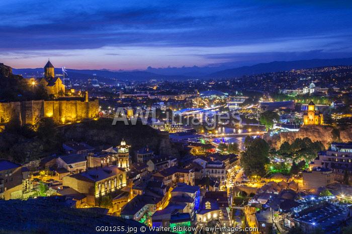 Georgia, Tbilisi, Old Town, Muslim Quarter and Narikala Fortress