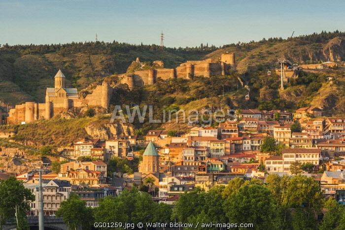 Georgia, Tbilisi, Old Town, high angle view