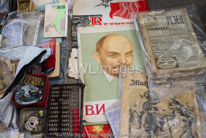 Georgia, Tbilisi, Dry Bridge Market, souvenir market, Lenin sounenirs