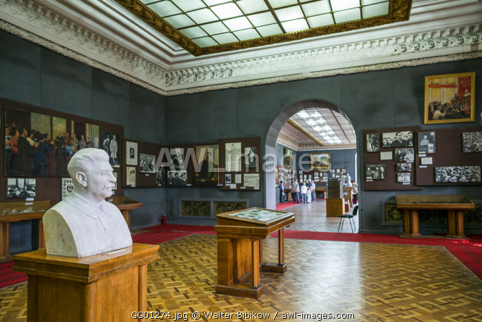 Georgia, Gori, Stalin Museum dedicated to former Soviet dictator Joseph Stalin, bust of Stalin