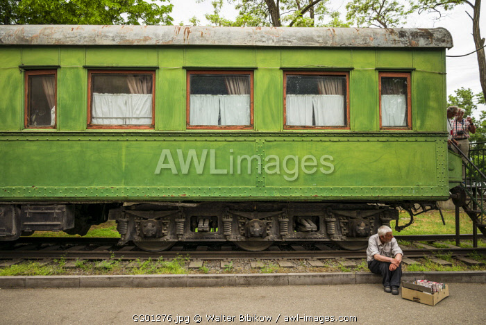 Georgia, Gori, armored train wagon once used by Soviet dictator Joseph Stalin