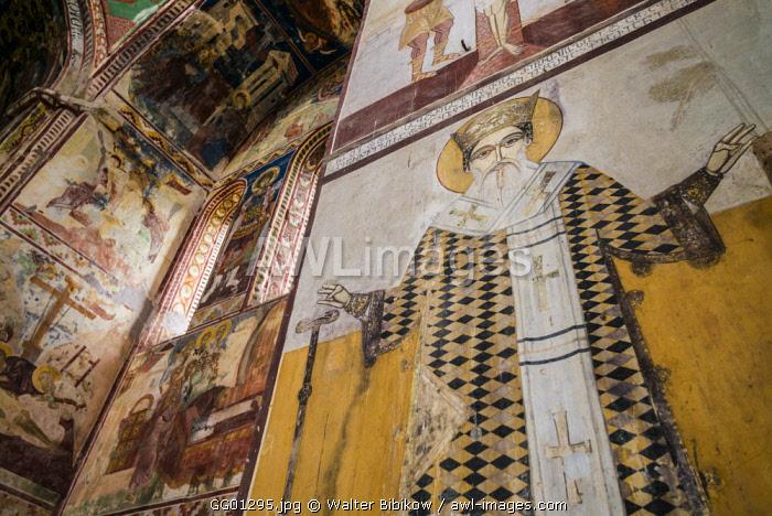 Georgia, Kutaisi, Gelati Monastery, religious fresco