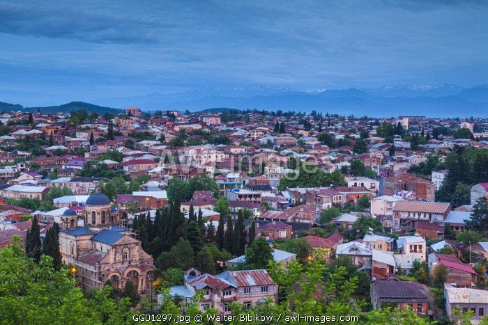 Georgia, Kutaisi, high angle city skyline