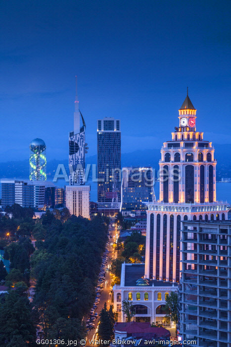 Georgia, Batumi, city skyline