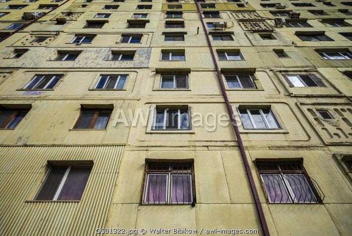 Georgia, Batumi, Batumi Boulevard seaside promenade, Soviet-era apartment buildings