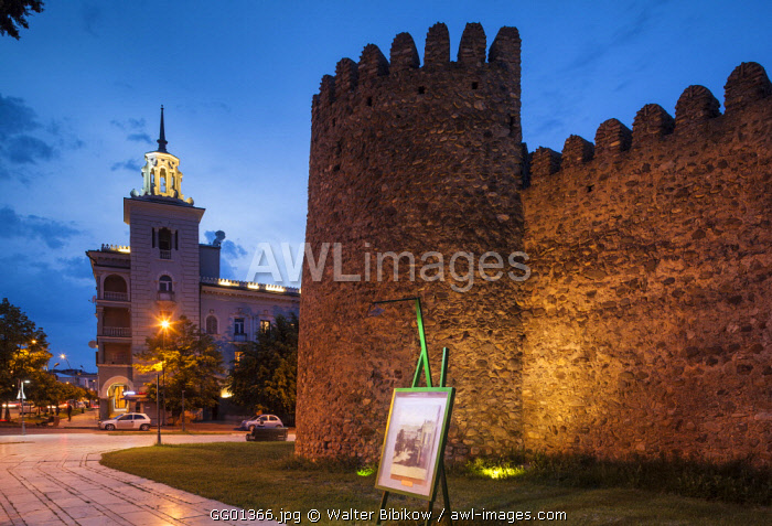 Georgia, Kakheti Area, Telavi, Batonistsikhe Castle, castle walls