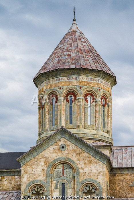 Georgia, Kakheti Area, Sighnaghi, Bodbe Convent, convent church