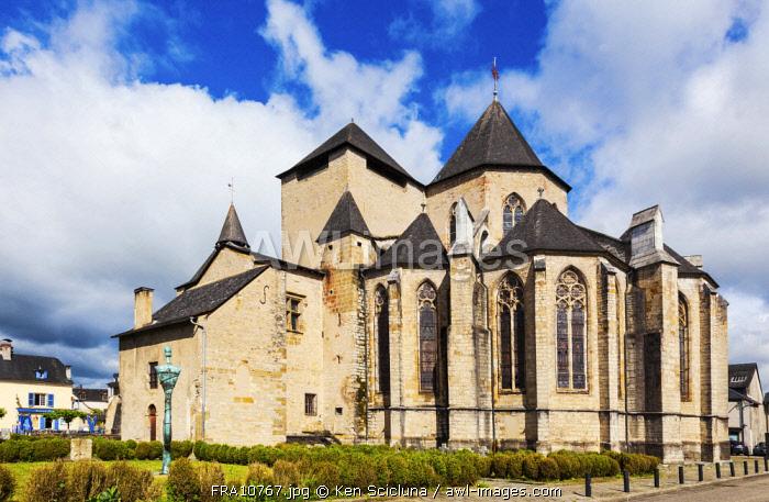 France. Nouvelle Aquitaine. Oloron Sainte Marie. The Cathedral of Oloron Sainte Marie. UNESCO.