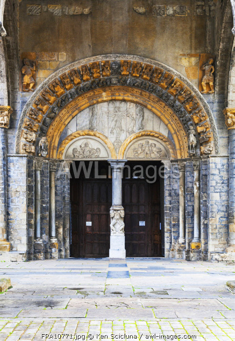 France. Nouvelle Aquitaine. Oloron Sainte Marie. The Cathedral of Oloron Sainte Marie. UNESCO.