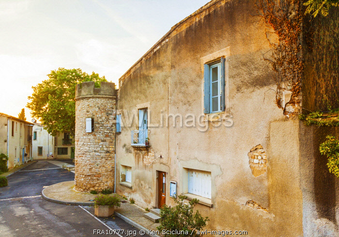 France, Occitane, Montpellier. Old house in the town of Grabels along the camino di Santiago on the Via Tolosana.