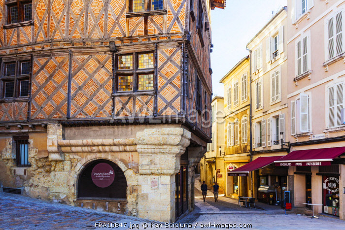 France, Occitanie, Auch. A historic house in the historical centre of Auch.