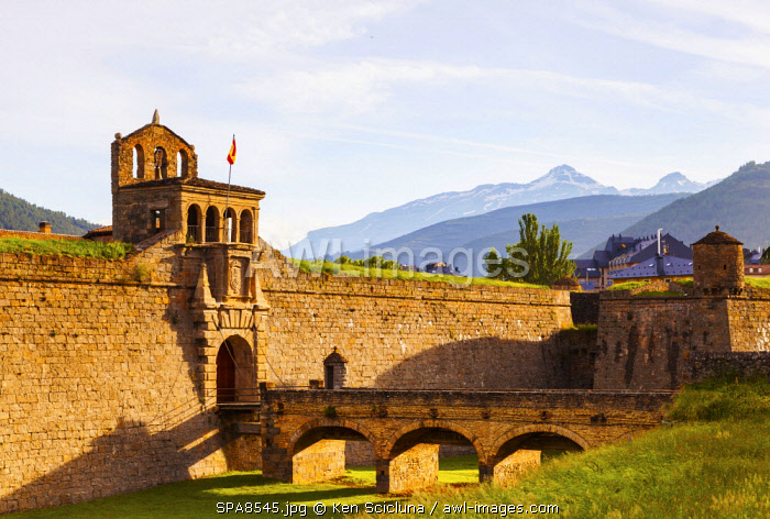 Spain. Aragona. Jaca. The Citadel of Jaca.