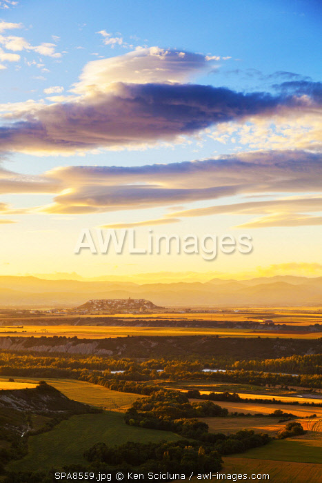 Spain. Catalonia. Arres. Views from the ancient village of arres over to the French Pyrenees which borders Spain.