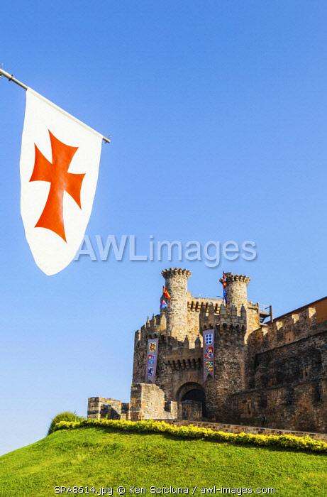 Spain, Castila y Leon, Ponferrada. The 12th Century Templar Castle.