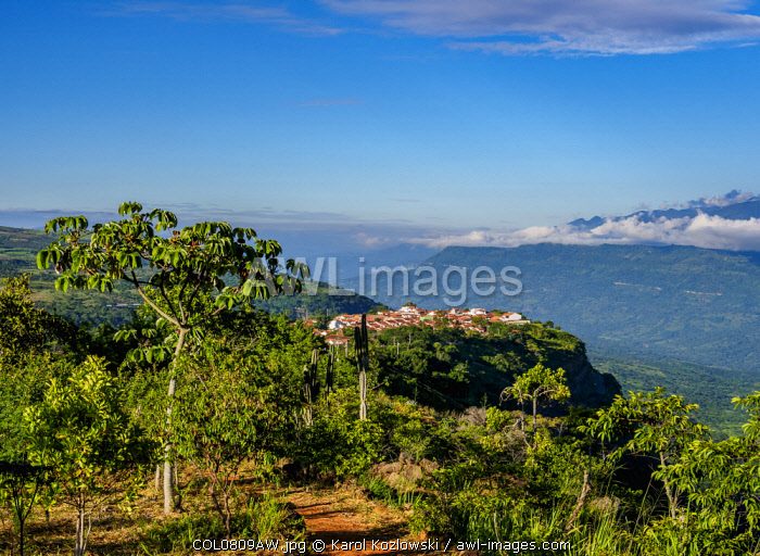 awl-images.com - Colombia / Landscape with Barichara town, Santander Department, Colombia