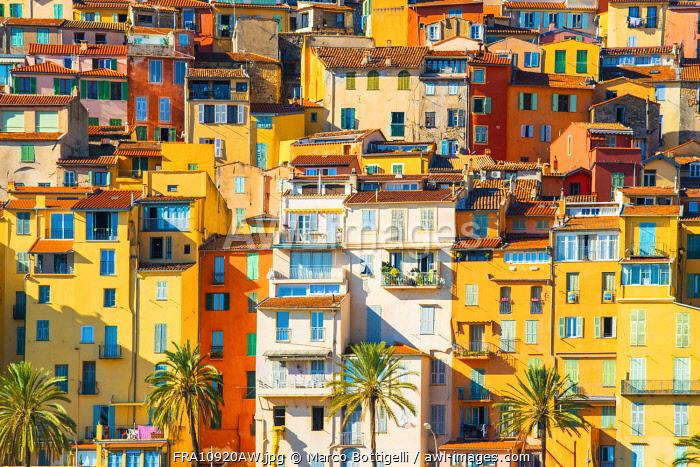 France, Provence-Alpes-Cote d'Azur, French Riviera, Alpes-Maritimes, Menton.