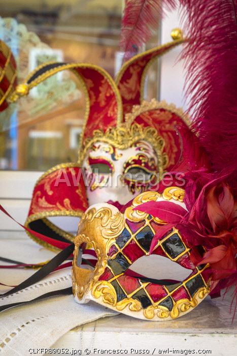 Venetian's masks, Burano artisanship, Burano village, Venice district, Veneto, Italy