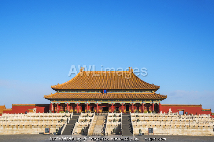 The Hall of Supreme Harmony in the Forbidden City. Beijing, People's Republic of China.