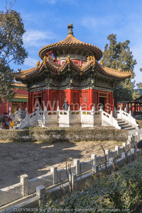 Pavilion in the Imperial Garden of the Forbidden City. Beijing, People's Republic of China.
