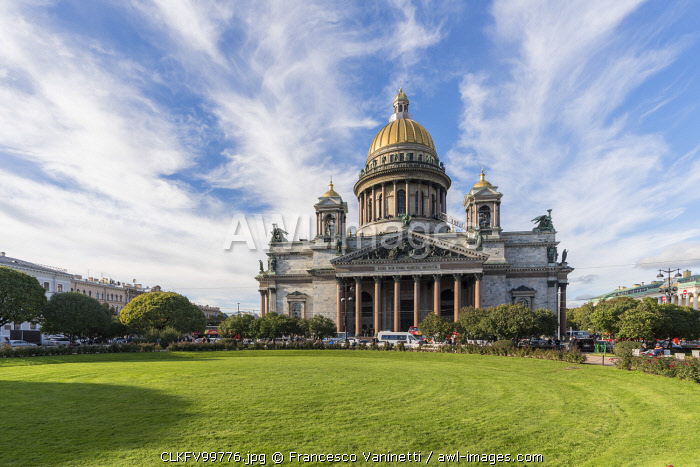 Saint Isaac's Cathedral and square. Saint Petersburg, Russia.
