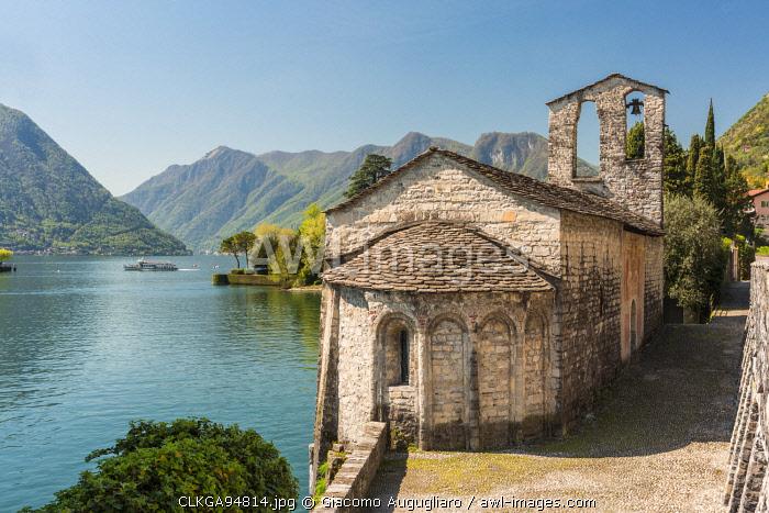 Romanesque church of San Giacomo in Spurano, Ossuccio, Como province, Lombardy, italy