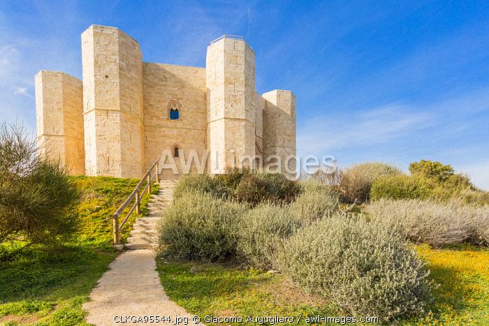 Castel del Monte fortress in Andria, Apulia region, Italy