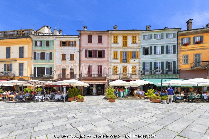 The Motta Square of Orta San Giulio village (Orta San Giulio, Lake Orta, Novara province, Piedmont, Italy, Europe)