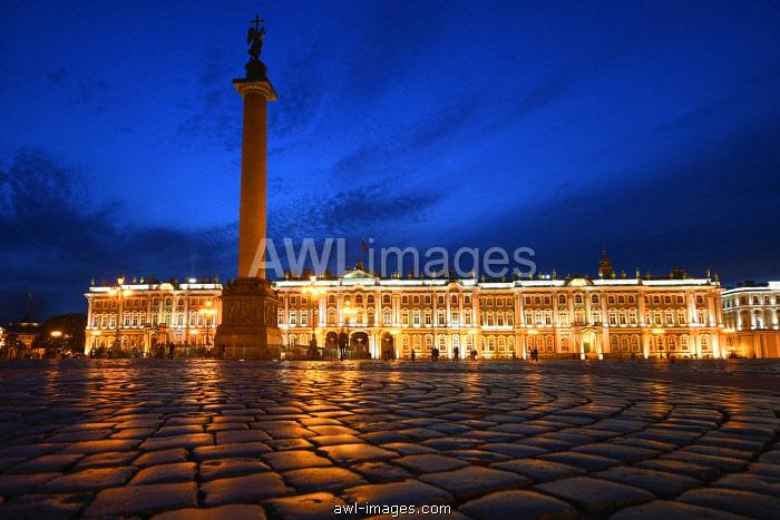 Night view of Winter Palace , Saint Petersburg, Russia