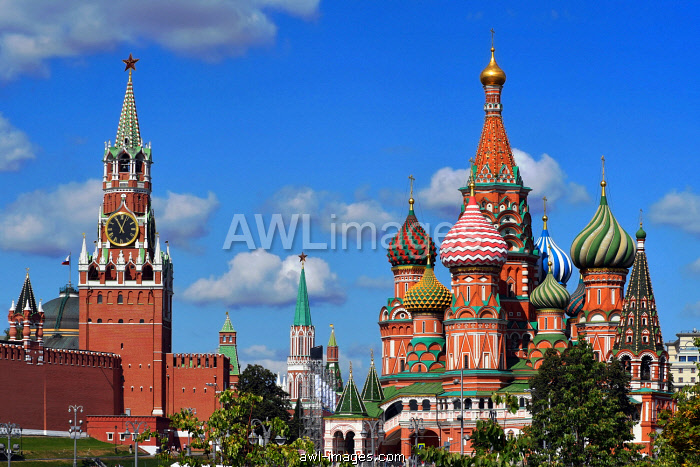 Kremlin and Saint Basil's Cathedral, Moscow, Russia