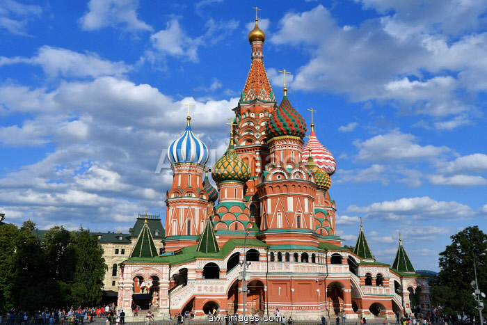 Saint Basil's Cathedral,(Cathedral of Vasily the Blessed), Red Square, Moscow, Russia