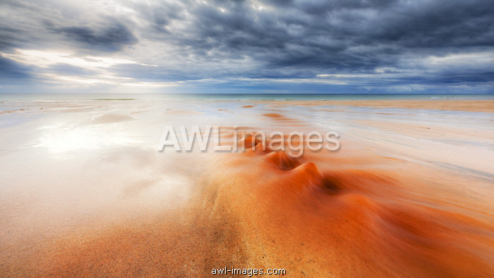 The red river in Traigh Mhor beach,North Tolsta, Hebrides, Scotland, United Kingdom
