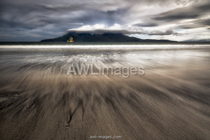 Laig beach, Island of Eigg, Hebrides, Scotland, United Kingdom