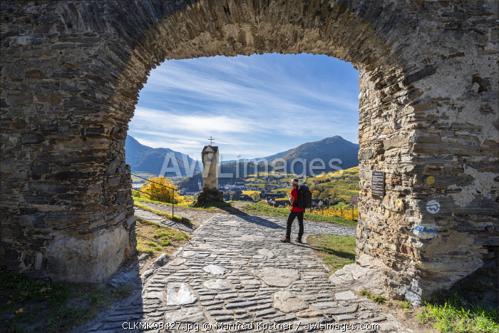 Spitz an der Donau, Wachau, Waldviertel, district of Krems, Lower Austria, Austria, Europe. The Red Gate