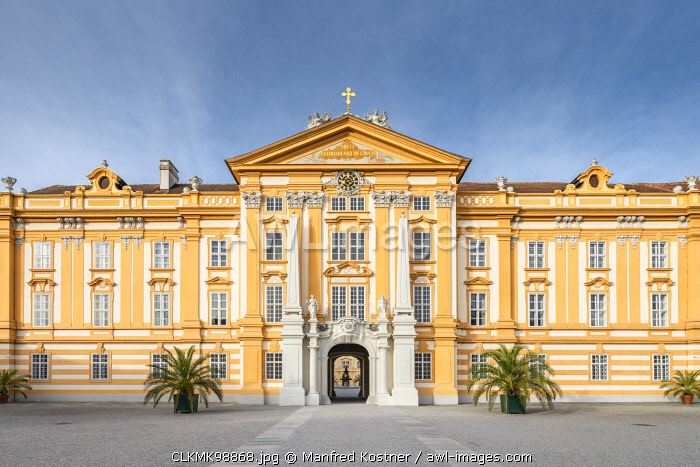 Melk, Wachau, Lower Austria, Austria, Europe.The Benedectine abbey