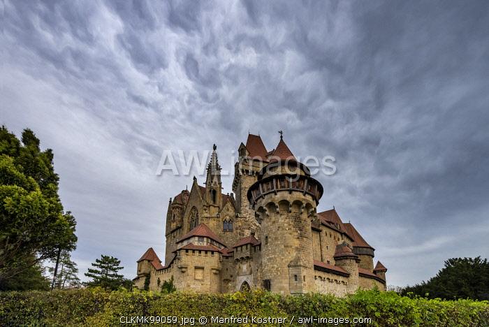 Leobendorf, district od Korneuburg, Lower Austria, Austria, Europe. The Kreuzenstein castle (Burg Kreuzenstein)