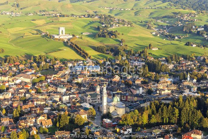 Asiago aerial view. Veneto, Italy, Europe.