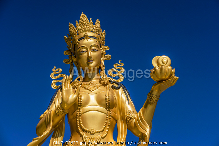 Statue around the Great Buddha Dordenma is a gigantic Shakyamuni Buddha statue.