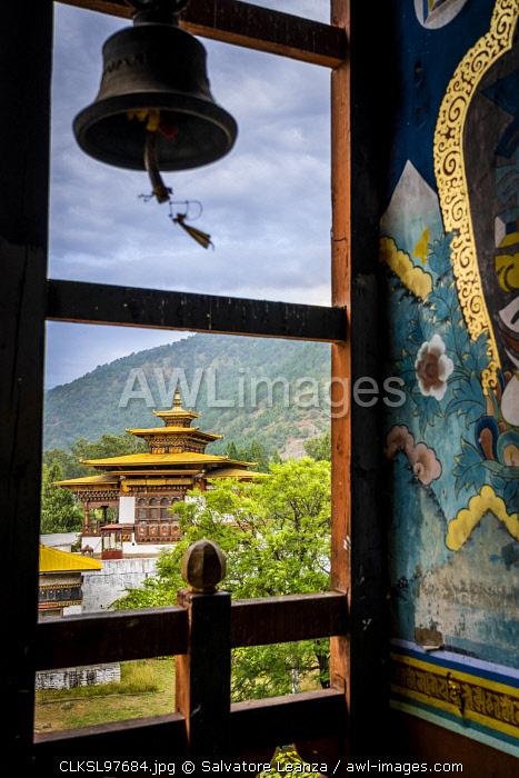 From the Punakha Dzong, also known as Pungtang Dewa chhenbi Phodrang. Punakha, Bhutan,