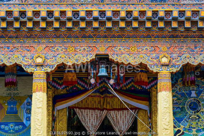 Inside the Punakha Dzong, also known as Pungtang Dewa chhenbi Phodrang. Punakha, Bhutan,