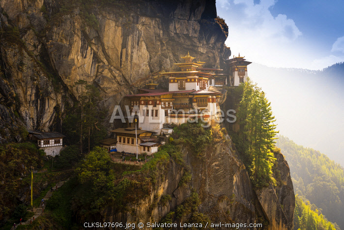Paro Taktsang also known as the Taktsang Palphug Monastery and the Tiger's Nest. Paro, Bhutan,
